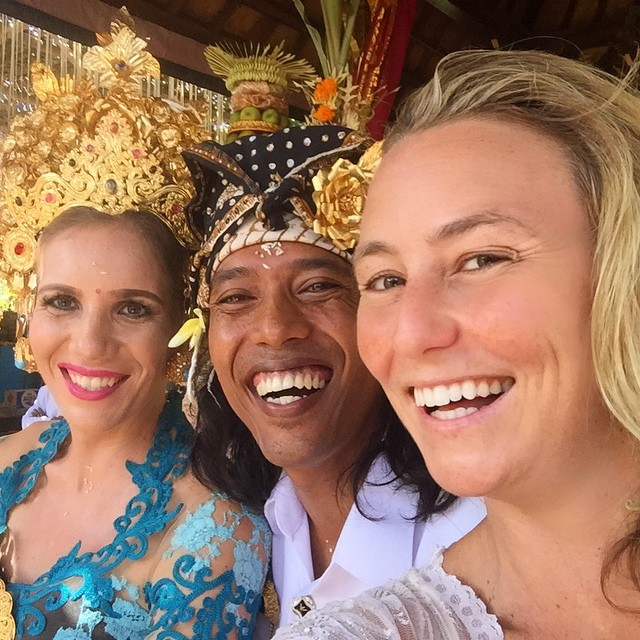 My 'Balinese brother' that I grew up with chasing monkeys and eating fried rice out of banana leaves, married a lovely lady today and I can't believe I was able to be here for the traditional, elaborate, heartwarming ceremony! I wish you both the...