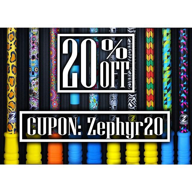 #TheZephyrGrinch esta con un buen día, y les da un 20% en la compra de su #ZephyrPole !!!