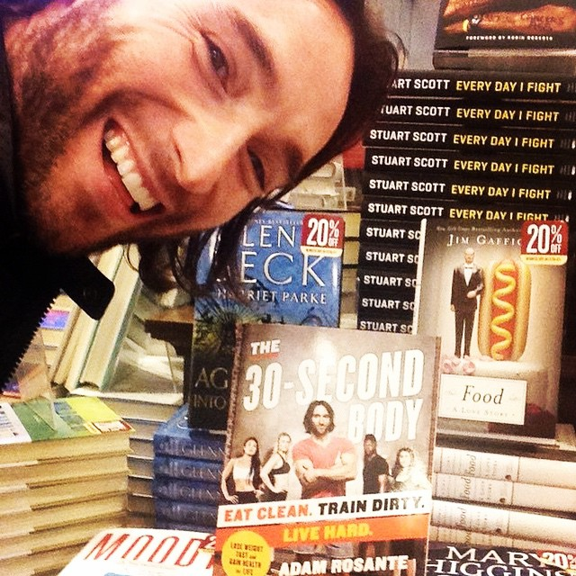We're so #stoked that @adamrosante is donating $1 for every copy of his book #30secondbody to us! Just fwd your receipt to preorder@the30secondbody.com with STOKED as the subject line. Let's #getfit!