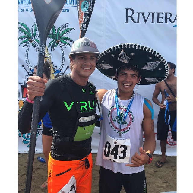 CONGRATULATIONS @bichosup on the 2nd place finish in the men's 20k distance today! Congrats to @fernandostalla as well who wasn't too far behind! #roguesup #isaworlds #isasuppc #sup #sayulita