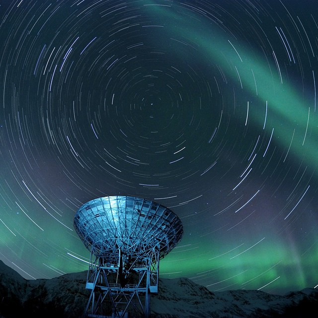Photo of the Day! Startrail with Northern Lights. Stefan Brandt shot this image in Night Lapse Mode set to a 30 sec exposure. Photos have been stacked in post production. #GoPro #nightlapse #northernlights #startrail  Share your time lapse photos with...