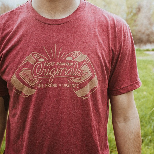 "We recently had the good fortune of meeting the folks at @upslope and quickly found common ground with another beer-and-mountain-loving company built in The Rockies. We're stoked to collaborate with our new pals on these ""Rocky Mountain Originals"" tees..."