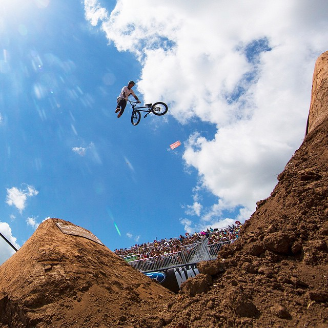 Australian rider @kylebaldock1 will be chasing his third consecutive #XGames BMX Dirt gold medal this June. (