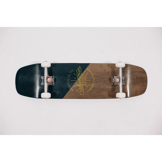 The Compass is one of our favorite shapes. Classic shortboard functionality with a shaped nose and tail. #skate #handmadeskateboard #Nashville
