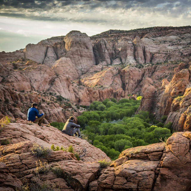 Practicing what we preach. A couple members of our marketing team on a weekend backpacking trip in Escalante, UT. #GetOutStayOut