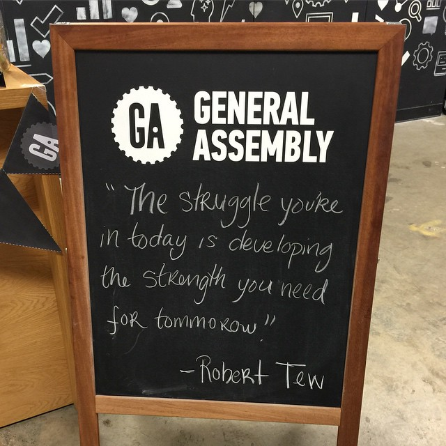 Good advice from @generalassembly @1776dc #struggle #hardwork #startups