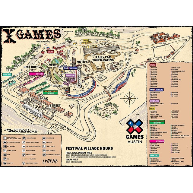 The 2015 #XGames Austin venue map is now live on XGames.com.  June 4 is only 21 days away!