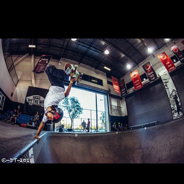 Check out #predatorteam rider @joshrodriguez91 at the #Vans #combi #bowl.