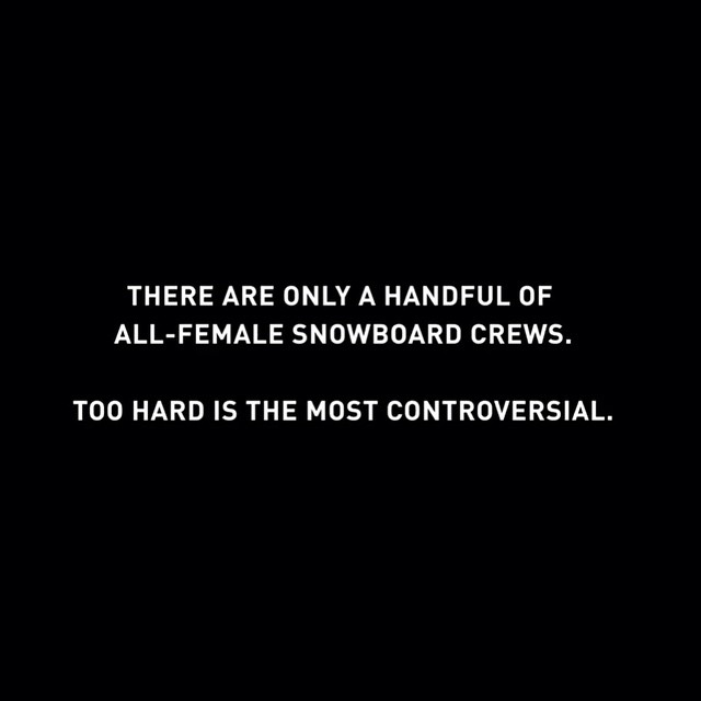 These lady shredders are the most badass women in snowboarding and we love them for it! Check out their ViceSports mini series. #sisterhoodofshred #coalitionsnow #vicesports #toohard