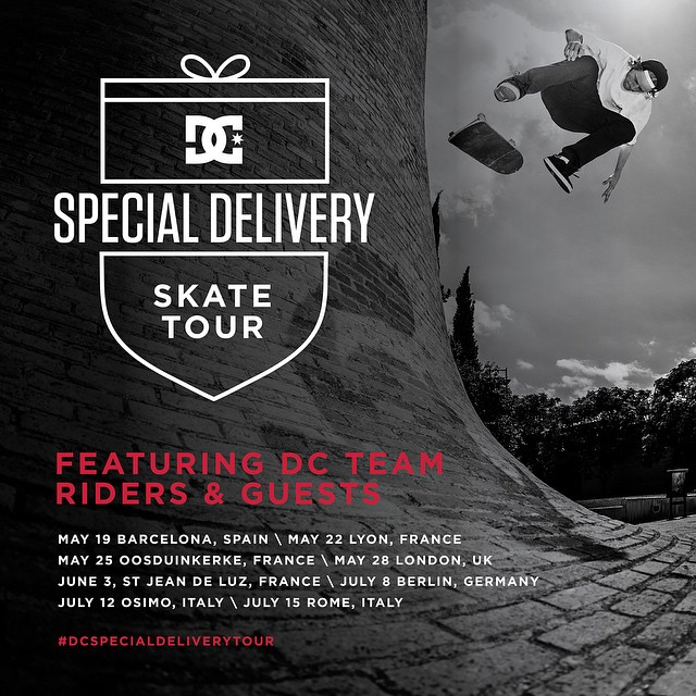 We're coming for you, Europe! We're spanning the continent this summer giving you a chance to skate with the DC team, try out our newest shoes and have a great time on the #DCSpecialDeliveryTour. #WesKremer, @madarsapse and more will be along for the...