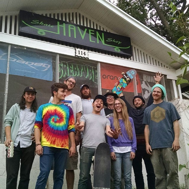 Had a rad time hanging with Emilia @havenskateshop today! Thanks for the hospitality and the good times! #thisshopisrad #Albuquerque If you're in the area check them out @havenskateshop