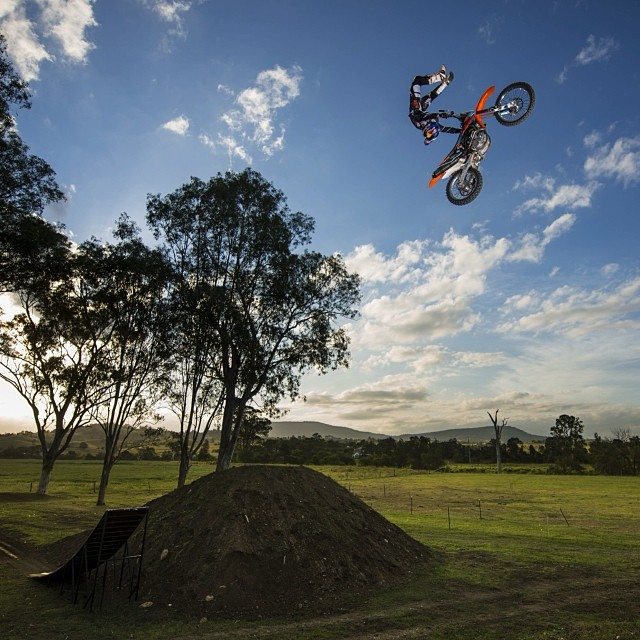 Take off for the weekend. #motocross #freestyle.