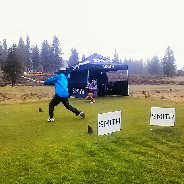 The rain is here and so are we! Thank you @smithoptics for the baseball bat long drive! #CharityGolf #SmithOptics