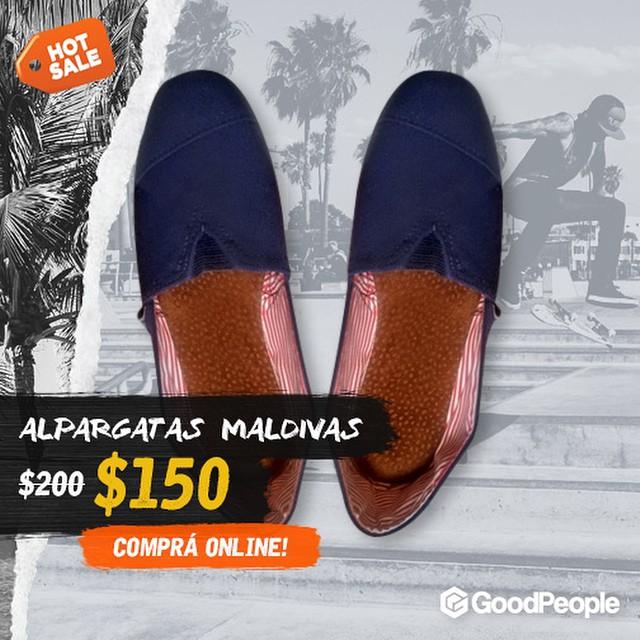 Hot Sale en Good People sólo por 3 días! Entra en http://bit.ly/1ctF2DP y fíjate los descuentos. @blackmonkeystore #blackmonkey #alpargatas #colores #onda #diseño #goodpeoplearg #hotsale #promoción #mayo #maldivas