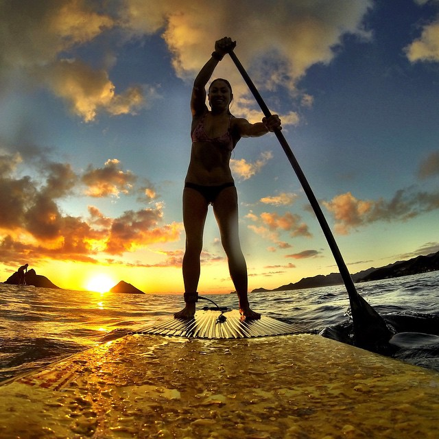 Photo of the Day! Sunrise paddling in Hawaii. Photo by @puating #GoPro #GoProGirl #SUP #paddleboarding #sunrise  Share your most epic photos with us by clicking the link in our profile.
