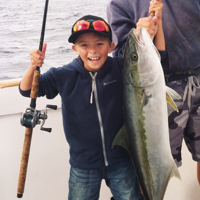 Happier than a boy and his fish    It must be Friday. #hovenvision #fish #fishing #ocean #thetugisthedrug #slugsnotdrugs #happy #friday #tgif #catchoftheday