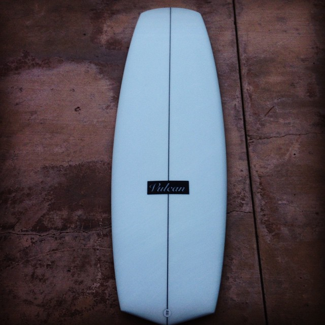 New foam for Wave Tribe chief. 5'6 @vulcansurf #stoked
