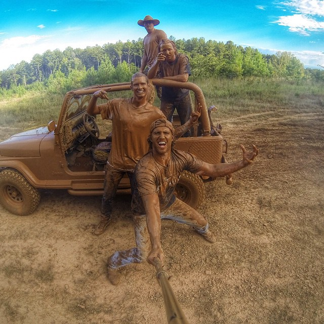 "So stoked you helped us reach 5 Million Followers!  Tag 5 friends you want to take a selfie with in the comments for a chance to win a HERO4 Black.  Number 3 All-time Photo:  @sallen2417 says, ""This is what happens when you find a good mud hole that..."