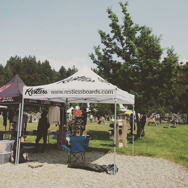 We got a new tent for events!  Like it? We are currently at Danger Bay #restlessboards