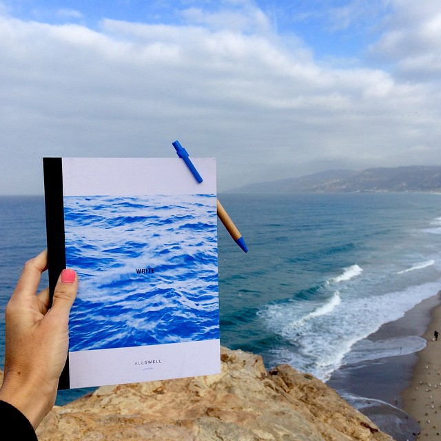 Perfect pairing: @shannonreporting shows us where she finds inspiration, Malibu and blank pages to fill. Oceanside jotting is where the idea for AllSwell notebooks came to be so we're unabashedly biased but to us it's a recipe for a clear head and a...