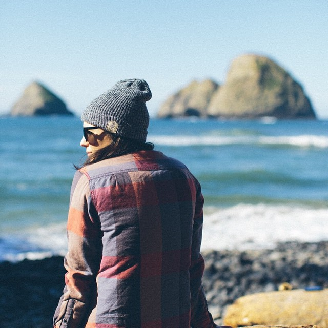 "In the Pacific Northwest, the beach is called ""The Coast"". It's rugged landscape often calls for a beanie like The Scout."