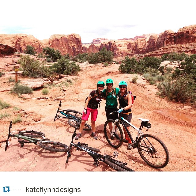 @kateflynndesigns finding her #ladyshred crew in #moab. Where did you get out to today? Tag your photos with #IAmSJ to share. ・・・ Weekend getaway to Moab! #weekend #mtb #mtbgirls #moab #iamsj #getoutside #radgirlslife #evenjewelerstakevacationssometimes