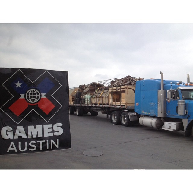 The @CaRampWorks crew is en route to Austin, Texas, to create the world's sickest skate courses.  #XGames is only 18 days away!