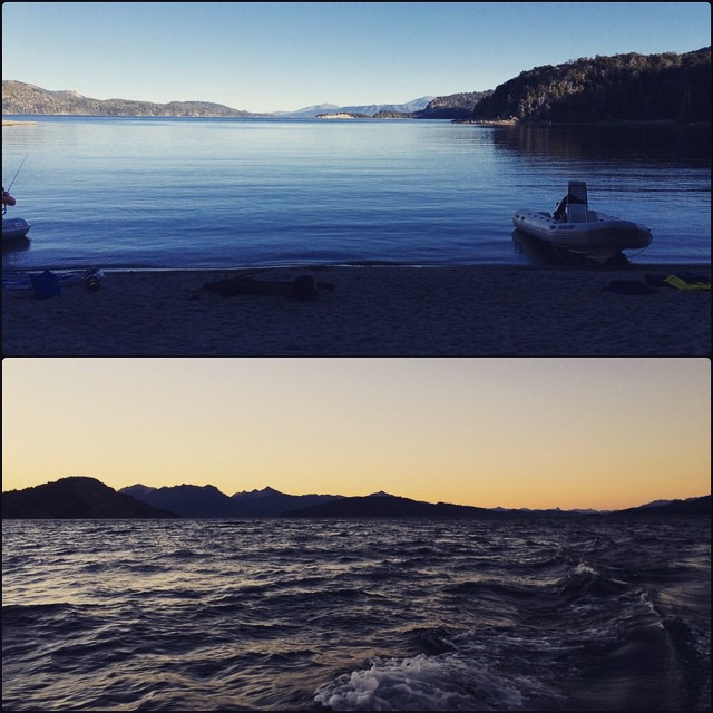 Excelente tardee!!! #Sunami #Lake #Atardecer