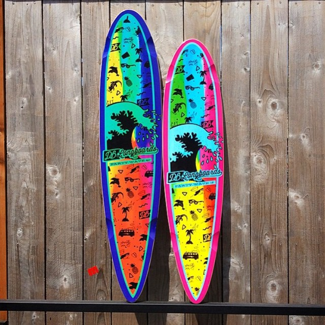 "The Party Wave 42"" and 38"" pintail cruisers now available at @motionboardshop in Seattle and DBlongboards.com #partywave #cruisiers #pintail #longboard #dblongboards #seattle #motionboardshop"