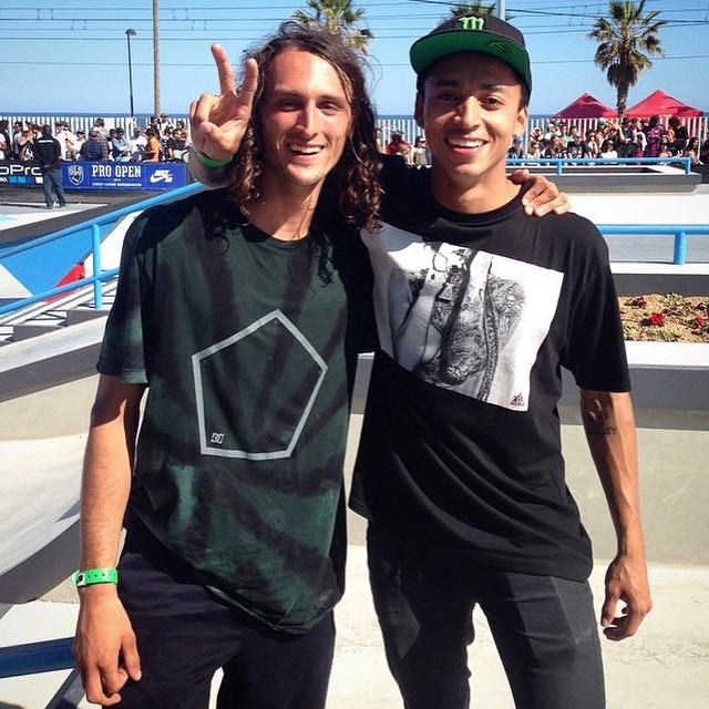 Congrats to @nyjah on winning the SLS Pro Open and @starheadbody for taking 3rd! You guys ripped all weekend! Photo: @elementbrand #DCShoes