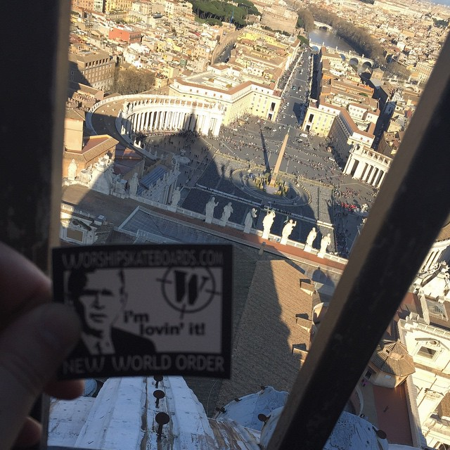 #Rome #StPetersBasilica #cupola  Worth all 551 steps. Follow us on Instagram @worshipskateboards