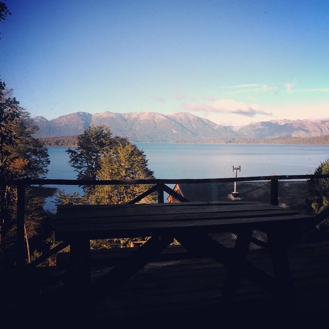 Amanecer con ruido de bocinas... Estaría extrañando el silencio de CABA. (?) #Angostura #Breakfast #Paradise #Mountain #Argentina
