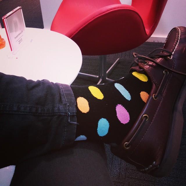 Hoy, color, señora!!! Tachame la doble... #RockMySock #SockAddict #PoneleColor!