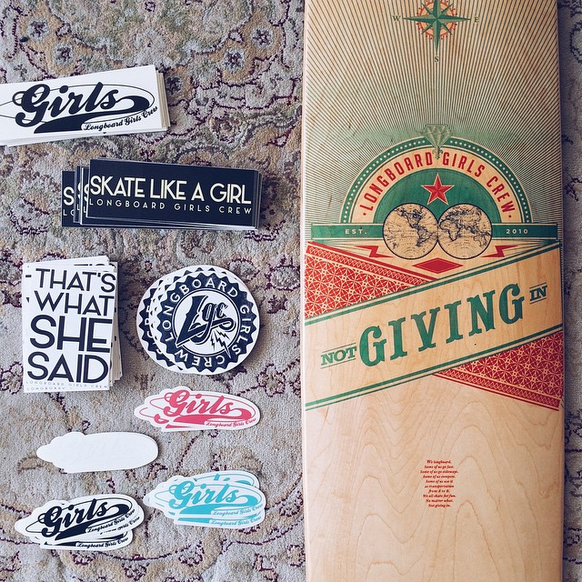 Who loves stickers? Order some LGC candy in longboardgirlscrew.com/shop and help us continue doing our job supporting and promoting women worldwide!  #longboardgirlscrew #womensupportingwomen #girlswhoshred #skatelikeagirl #thatswhatshesaid #stickers