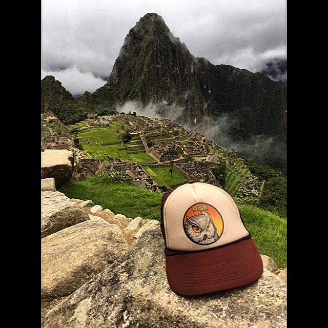 Nice shot of Machu Picchu from our buddy @scrillycheese . Where do you rock your Rise gear? #RISEdesigns #truckerhat #natureinspired #riseinspired #southamerica