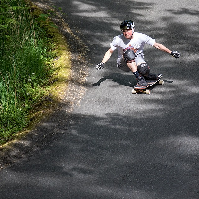 @speedscientist taking advantage of a righty and a sunny Seattle Day on the Keystone.