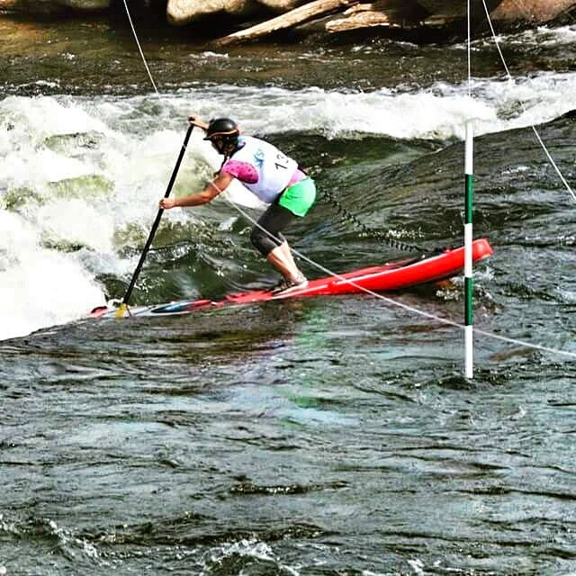 Congrats to Hala Gear athlete Melanie Seiler on a strong second place finish at Dominion River Rock! #HalaGear #halanass #supracing #theweeklyinsta #sup #dominionriverrockfestival #secondplace #standuppaddle