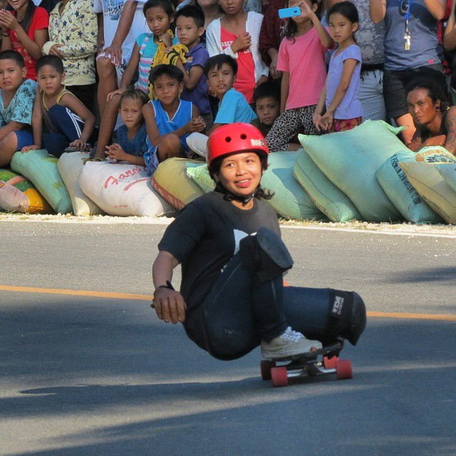Philippine local, Faith Haim enjoys skateboarding. Can you tell? ;)