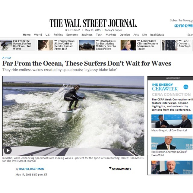 Wakesurfing and Shred Stixx Wakesurf Company landed on the front page of the Wall Street Journal! Check out the full article at the link below and watch out for a local Austin brand claiming to be the original wakesurf co to build their own brand....