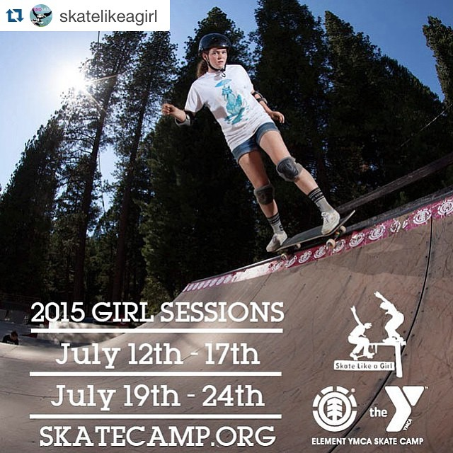 Repost @skatelikeagirl ・・・ We are super hyped to be heading out to @elementskatecamp to support all the #ladiesofshred - who's joining us?