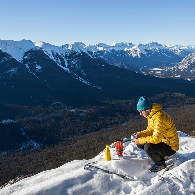 @calsnape enjoys a cup o' joe with a view #getoutthere #adventureworthy #greatwhitenorth
