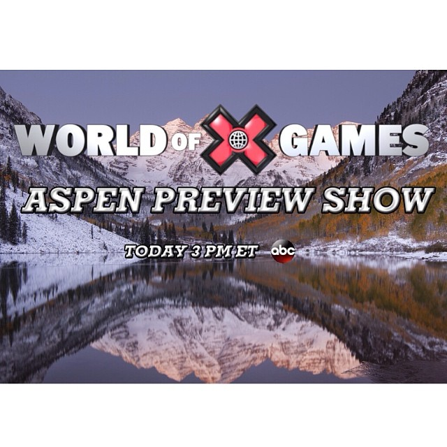 Big day as we countdown to #xgames! Aspen Preview show at 3pm ET on ABC. LIVE chat with @tuckerhibbert & @levi_lavallee at 4pm ET on XGames.com