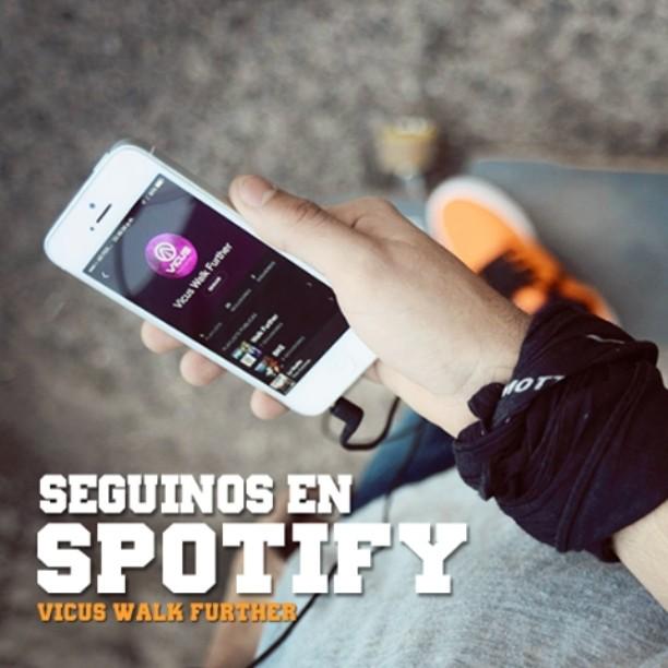Estas por andar, metele buena música. Seguínos en #Spotify: Vicus Walk Further