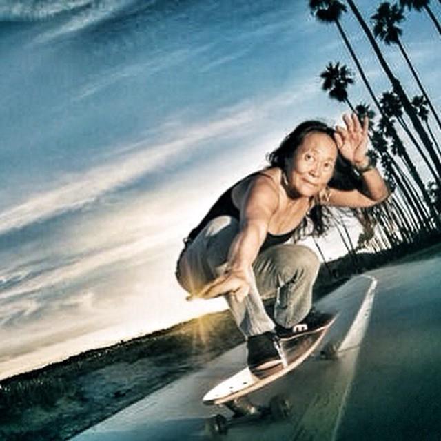 The legendary #peggyoki inspires us to keep living our dreams. #skate #skater #sk8 #skatelife #skateboard #skatergirl #skatelikeagirl #dogtown #zboys #elevateyourskate #inspiration #original #streetskating #outdoors #skateboarding #stoked #stokedorg