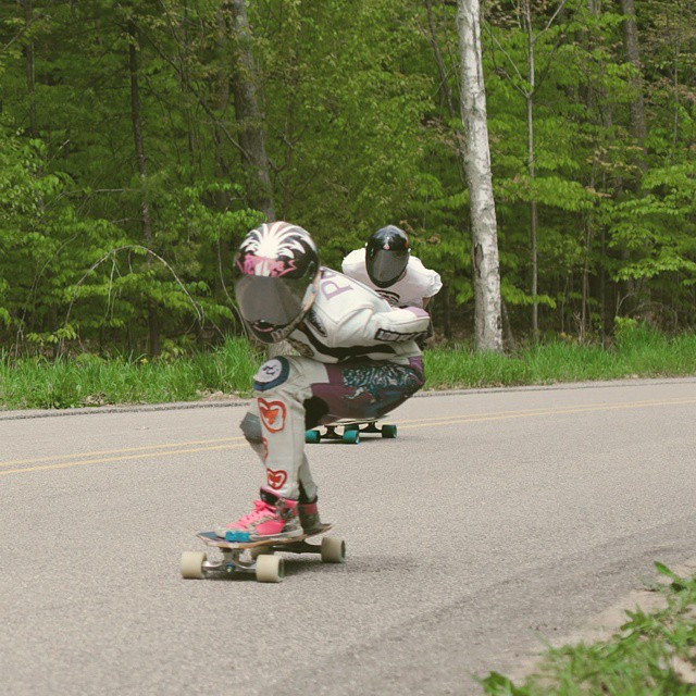 LGC USA Ambassador @possala leaning left during an open heat at Rage at the Ridge this past weekend. Pic Ashlee Kristin #longboardgirlscrew #girlswhoshred #possala