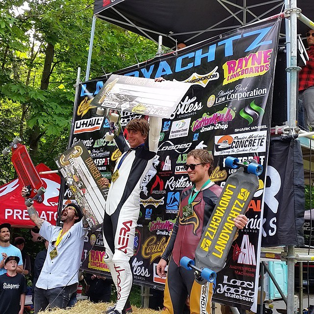 @aerakrimes wins #dangerbay14 for a 3rd year in a row! Repost from @switchbacklongboards  1st @aerakrimes  2nd @dillonstephens  3rd @grizzandfamjam 4th @mackwacey