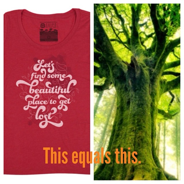 Buy a shirt, save the rainforest. Join Cuipo.org today. #cuipo #saverainforest