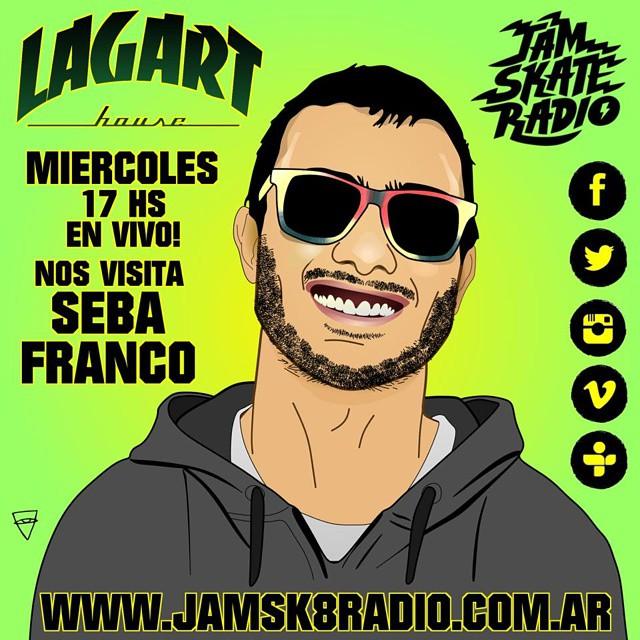 Hoy nuestro rider profesional Seba Franco ( @sebausk8 ) va a estar presente en la #lagarthouse , en la radio en vivo  @jamsk8radio  de 18-21hs hablando de todo, tanto del skate como de @u.fit.argentina !!! Va a estar regalando ropa y anteojos U-FIT así...