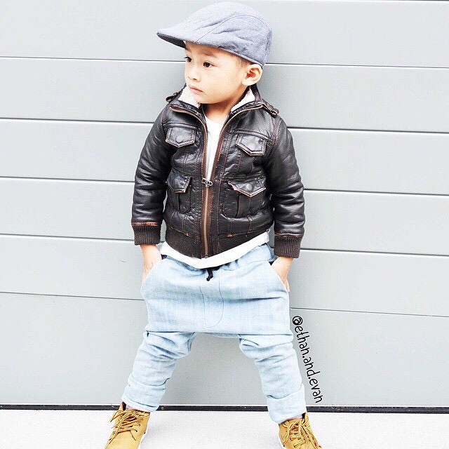 Too cool for school with his #kangol cap (via @ethan.and.evan)