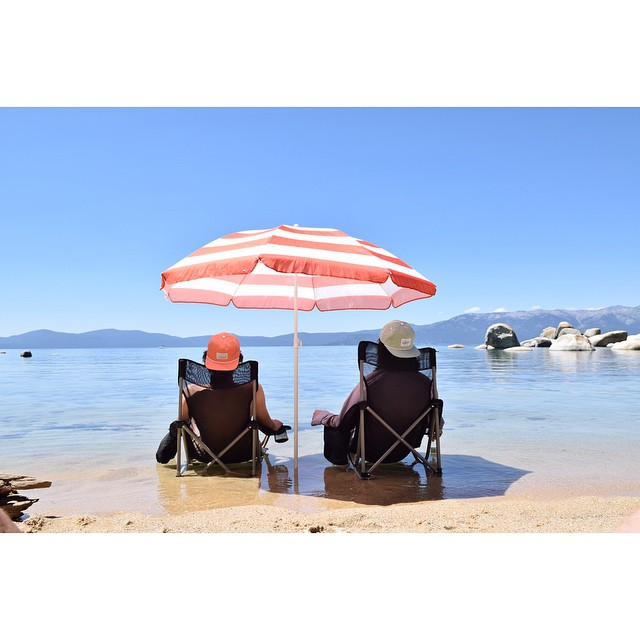 Our dudes @warpwave enjoying the tropical paradise that is Tahoe.